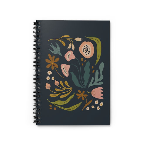 Botanical 1 Notebook - Ruled Line