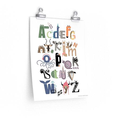 Alphabet Premium Matte Posters