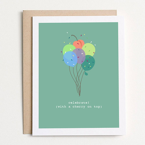 With A Cherry On Top Greeting Card