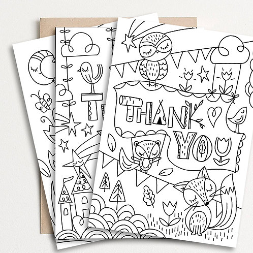 U-Color Set of 5 Thank You Cards