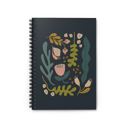 Botanical 2 Notebook - Ruled Line