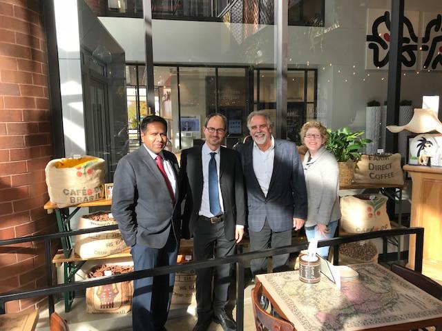 Pictured from left to right: Piram Prakasam, Jakob Lempp, Michael Van Denend, Erica Kubik