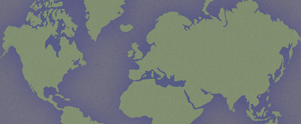 Purple and Green word map