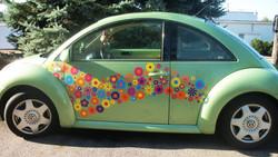 ADHESIVOS flores hippy motors pegatinas para coches adhesivos hippie decals
