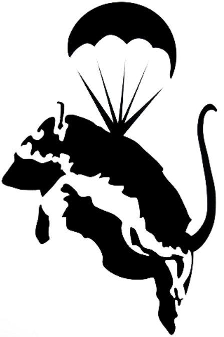 Rata con paracaídas