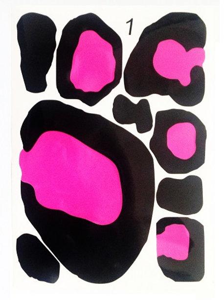 Manchas bicolores 1 folio