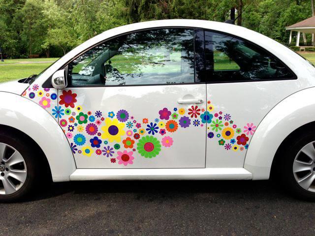 flores para coches vinilos