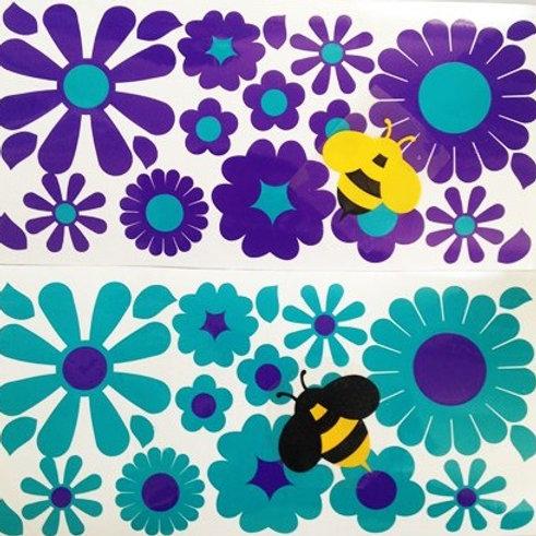 36 Flores con 2 abejas BICI