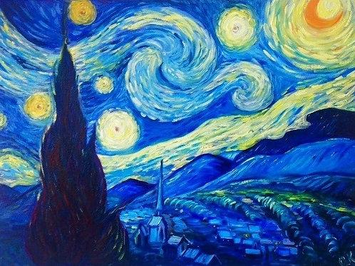 Starry Night Van Gogh´s reproduction 30 x 40 cm