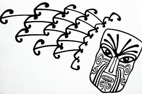Maori Moko con rayos