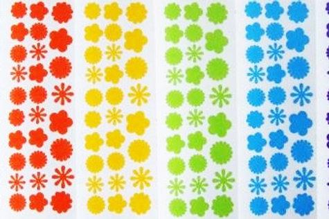 Pequeñas flores funky 6 colores