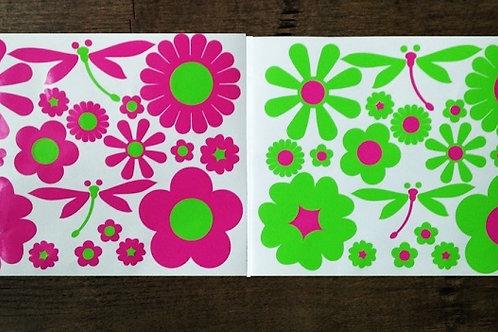 36 Flores con libélulas BICI y 2 libélulas