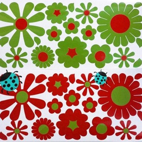 36 Flores con 2 mariquitas BICI
