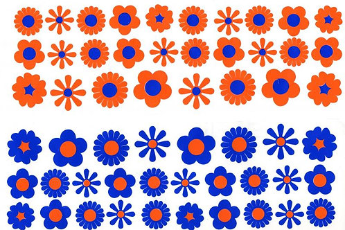 50 Pequeñas flores funky