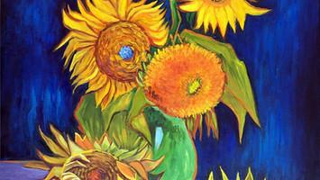 Six-Sunflowers-by-Vincent-Van-Gogh-Origi