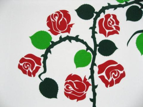 Rosa trepadora 4 folios