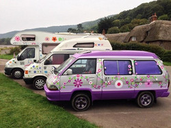 Hippy Funky flower power vehicles autocaravanas vinilos