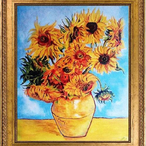 Sunflowers Van Gogh 45 x 55 cm