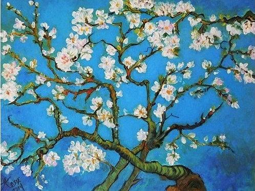 Almond blossoms of Van Gogh 30 x 40 cm