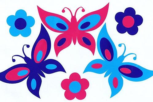 Mariposas 2 colores