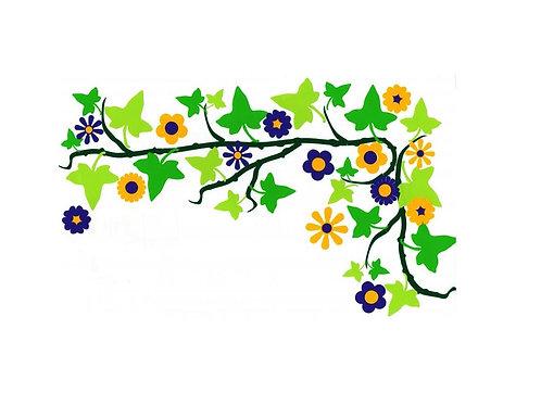 Enredadera con flores funky 5 folios