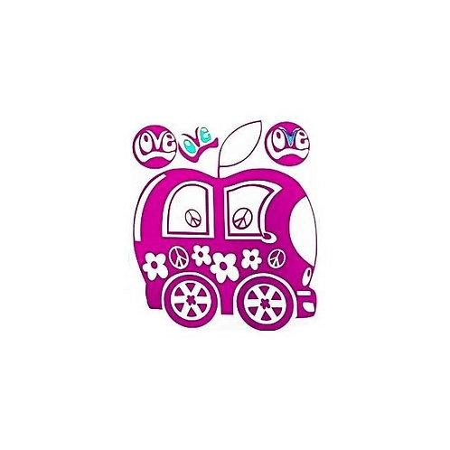 Hippy happy apple bus
