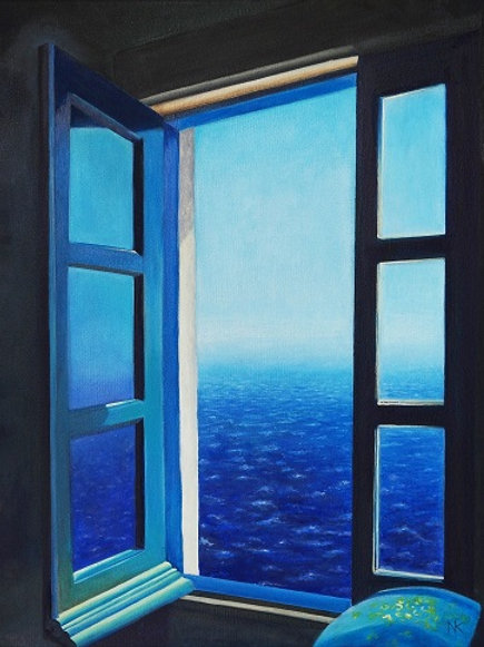 Seascape from the window
