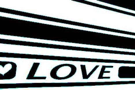 Rayas auto adhesivas Love-GT