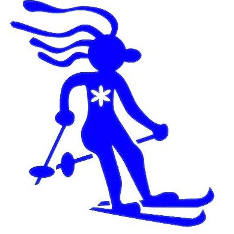Hippy esquiador