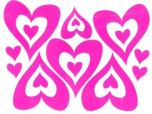 Corazónes 1 color