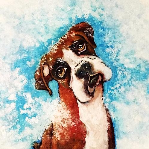 Boxer portrait 30 x 40 cm