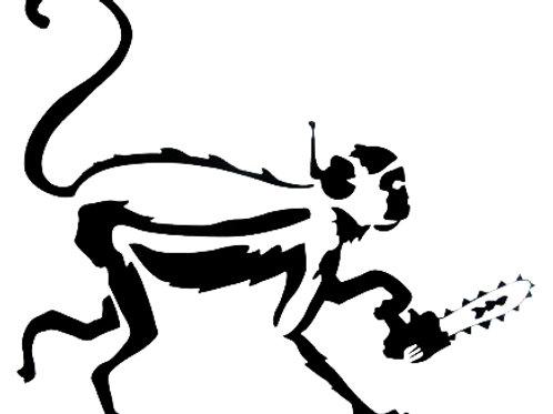 Mono con sierra
