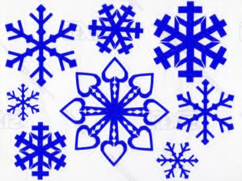 Copos de nieve 1 color