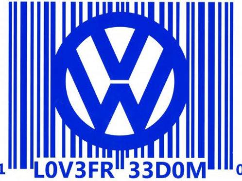 VW logo código de barra