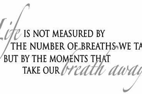 Life is not measured by the breaths you take