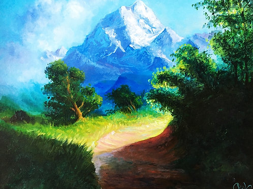 Mountain way 40 x 50 cm