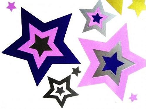 Estrellas en estrellas 2 colores 2 folios