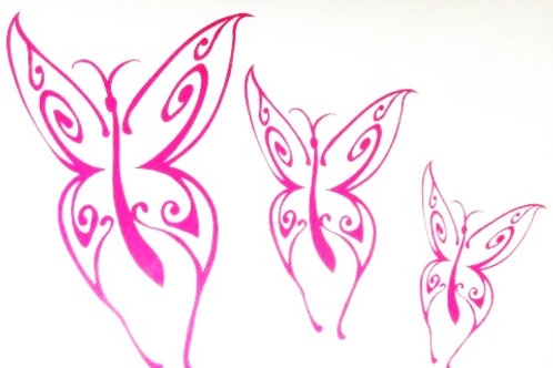 3 mariposas
