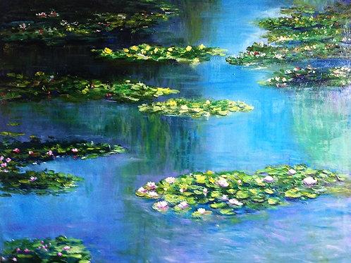 Water lilies pond 55 x 65 cm