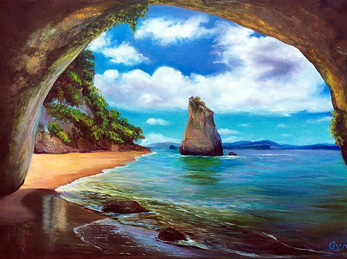 A view from the cave 50 x 70 cm