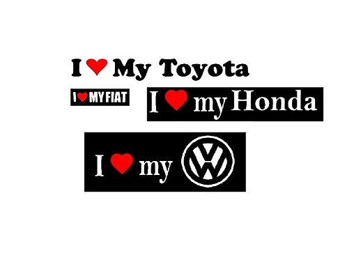 I love my VW, HONDA, TOYOTA
