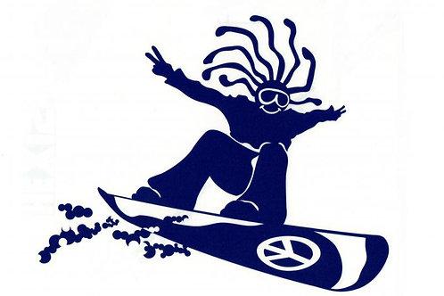 Hippy Snowboarder