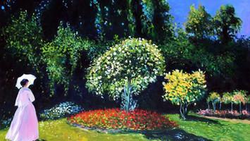 Monet Woman in the garden oil original b