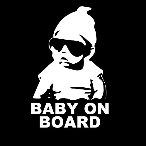 Bebé a bordo. Baby on board con gafas