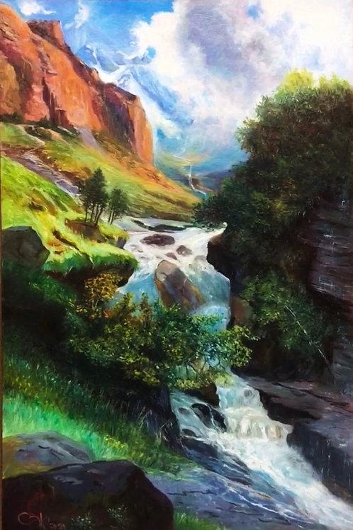 LAND OF WATERFALLS 50 x 75 cm
