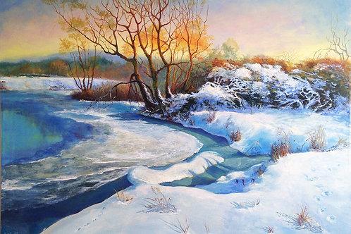 Winter landscape 51 x 70 cm