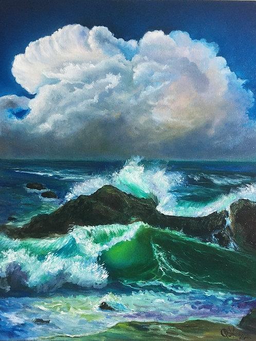 STORMY WAVES 40 x 50 cm