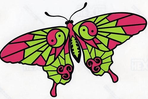 Gran mariposa con Yin-Yang