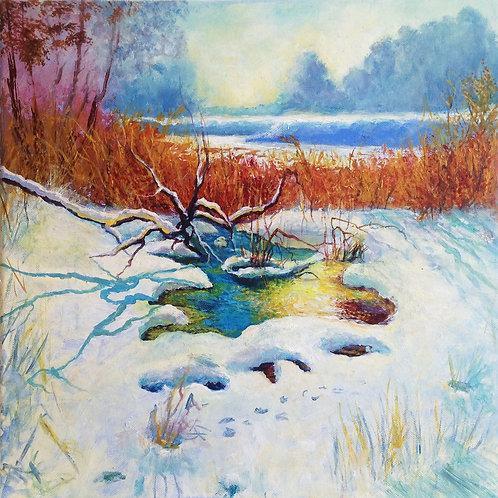 Winter landscape 40 x 40 cm