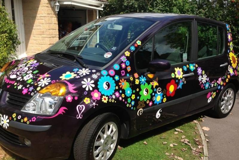 hippy motors fab groovy car camper van stickers decals